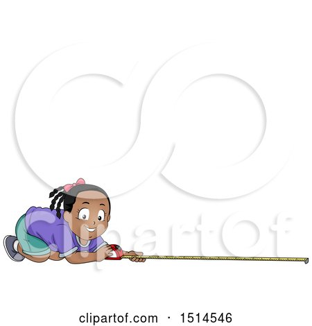 Happy Girl Measuring Posters, Art Prints