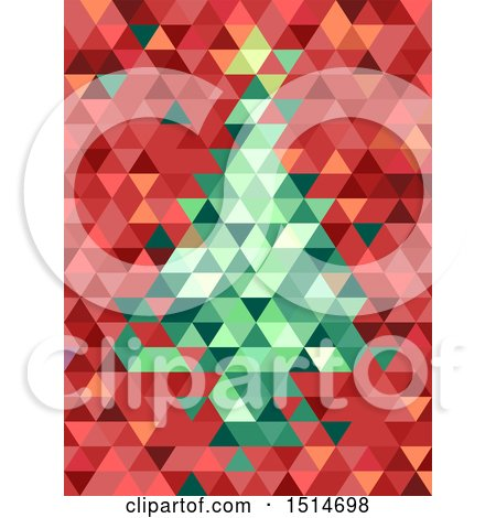 Clipart of a Geometric Christmas Tre - Royalty Free Vector Illustration by BNP Design Studio