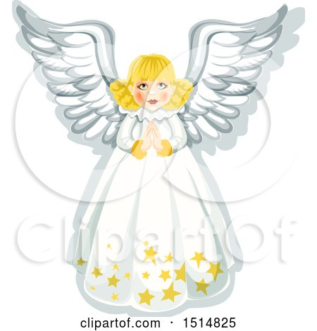 Clipart of a Christmas Angel - Royalty Free Vector Illustration by Vector Tradition SM