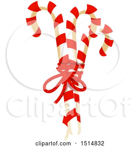 Clipart of Christmas Candy Canes - Royalty Free Vector Illustration by Vector Tradition SM