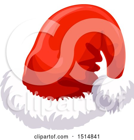 Clipart of a Christmas Santa Hat - Royalty Free Vector Illustration by Vector Tradition SM