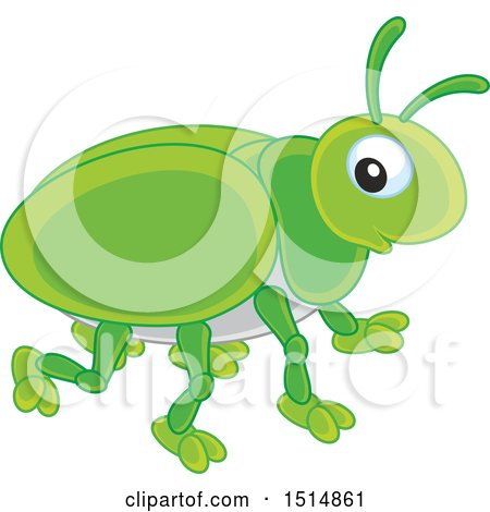 Clipart of a Cute Bug - Royalty Free Vector Illustration by Alex Bannykh