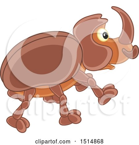 Clipart of a Cute Beetle - Royalty Free Vector Illustration by Alex Bannykh