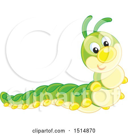 Clipart of a Cute Caterpillar - Royalty Free Vector Illustration by Alex Bannykh
