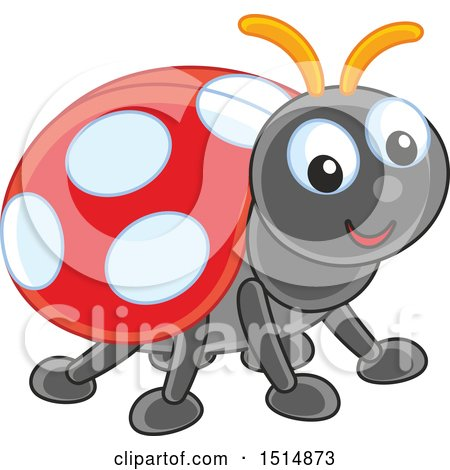 Clipart of a Cute Ladybug - Royalty Free Vector Illustration by Alex Bannykh