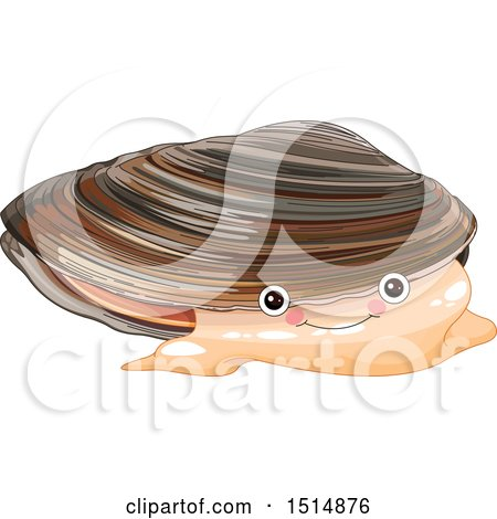 Clipart of a Cute Mussel - Royalty Free Vector Illustration by Pushkin