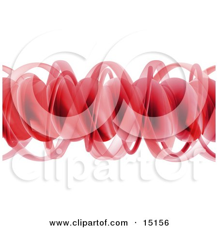 Red Complex Horizontal Spiral Of DNA Clipart Graphic Illustration by 3poD