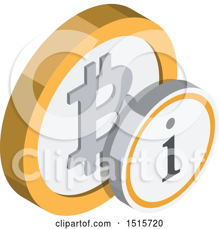 Clipart of a 3d Isometric Bitcoin Information Financial Icon - Royalty Free Vector Illustration by beboy