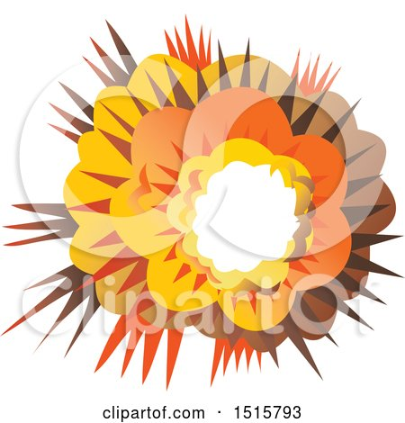 Clipart of a Bomb Explosion - Royalty Free Vector Illustration by patrimonio