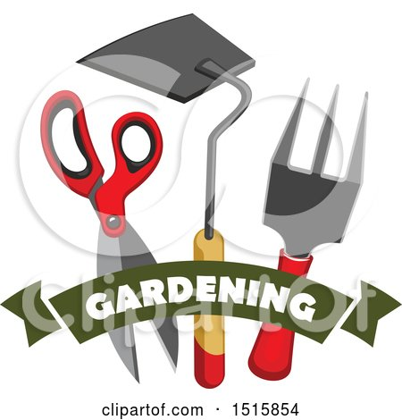 Clipart of Gardening Tools - Royalty Free Vector Illustration by Vector Tradition SM