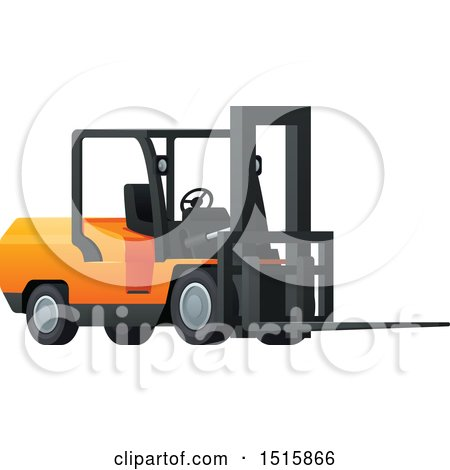 Clipart of a Forklift - Royalty Free Vector Illustration by Vector Tradition SM