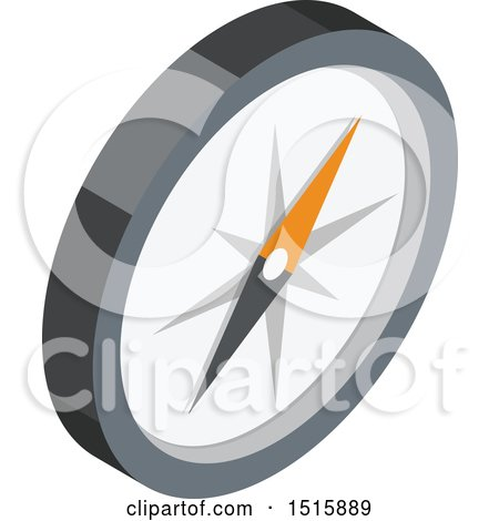 Clipart of a 3d Icon of a Compass - Royalty Free Vector Illustration by beboy