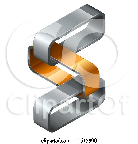 Clipart of a 3d Isometric Links Icon - Royalty Free Vector Illustration by beboy