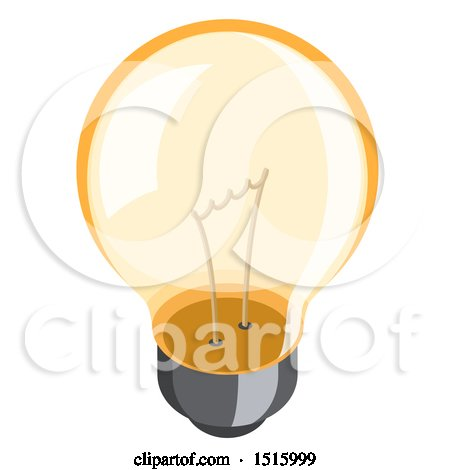 Clipart of a 3d Isometric Light Bulb Icon - Royalty Free Vector Illustration by beboy