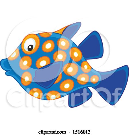Clipart of a Tropical Marine Fish - Royalty Free Vector Illustration by Alex Bannykh