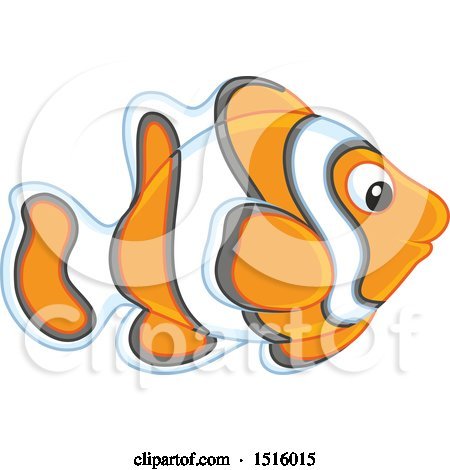 Clipart of a Tropical Marine Anemone Fish - Royalty Free Vector Illustration by Alex Bannykh
