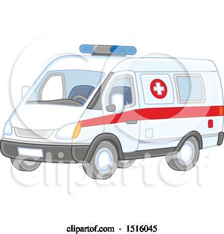 Clipart of an Ambulance - Royalty Free Vector Illustration by Alex Bannykh