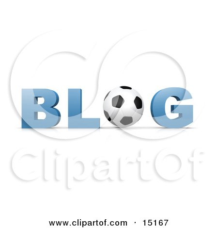 Black and White Soccer Ball Forming The Letter O In The Word Blog For An Internet Golfing Blog  Posters, Art Prints