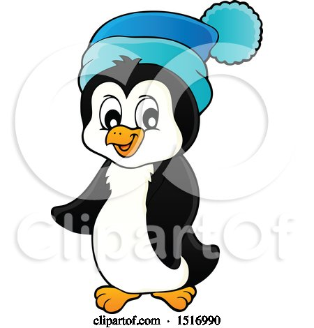 Clipart of a Winter Penguin - Royalty Free Vector Illustration by visekart