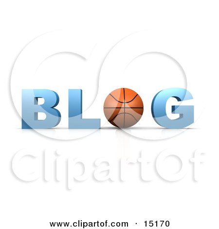 Basketball Forming The Letter O In The Word Blog For An Internet Basketball Blog  Posters, Art Prints