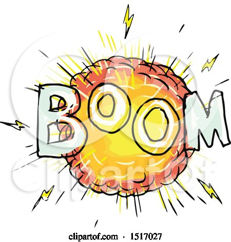 Clipart of a Cartoon Explosion with Boom Text - Royalty Free Vector Illustration by patrimonio