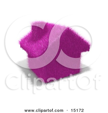 Environmentally Friendly Home Made Of Purple Fuzzy Grass Clipart Illustration by 3poD