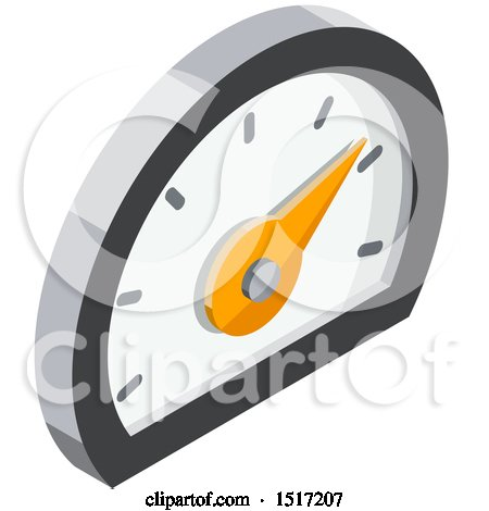 Clipart of a 3d Meter Icon - Royalty Free Vector Illustration by beboy
