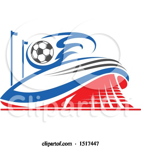 Clipart of a Soccer Stadium Design - Royalty Free Vector Illustration by Vector Tradition SM