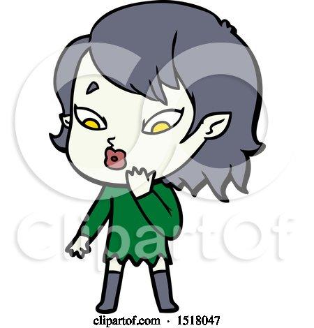 Cute Cartoon Vampire Girl by lineartestpilot