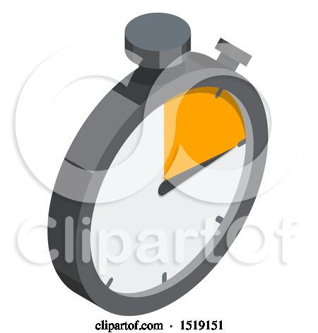 Clipart of a 3d Stop Watch Icon - Royalty Free Vector Illustration by beboy