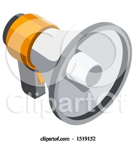 Clipart of a 3d Bullhorn Icon - Royalty Free Vector Illustration by beboy