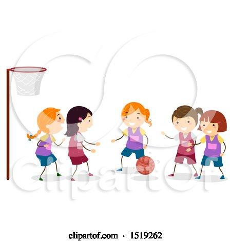 clipart happy basketball mascot jogging royalty free
