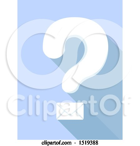Clipart of a Question Mark with an Envelope - Royalty Free Vector Illustration by BNP Design Studio