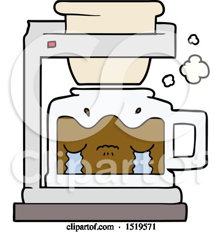 Cartoon Crying Filter Coffee Machine by lineartestpilot