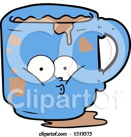 Cartoon Dirty Office Mug by lineartestpilot