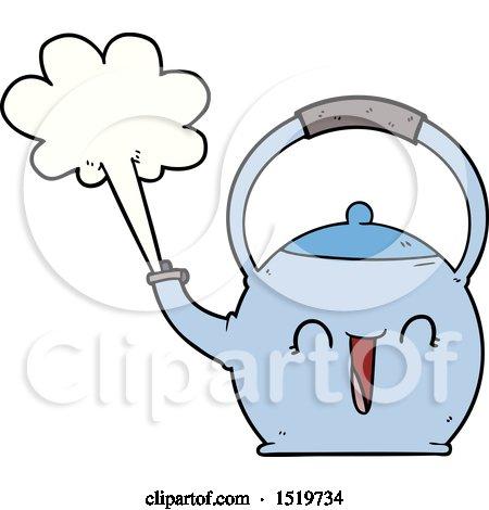 Cartoon Boiling Kettle by lineartestpilot