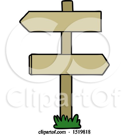 Cartoon Sign Post by lineartestpilot