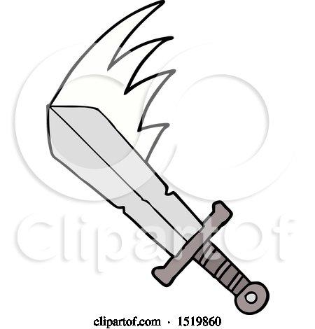 Cartoon Swinging Sword by lineartestpilot