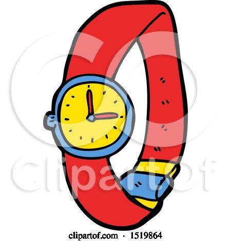 Cartoon Wrist Watch by lineartestpilot