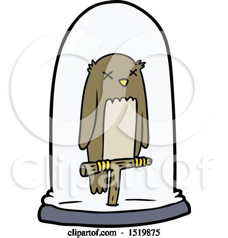 Cartoon Stuffed Owl by lineartestpilot