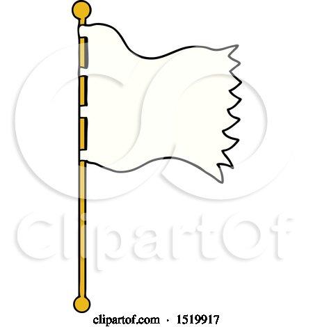 Cartoon Waving Flag by lineartestpilot