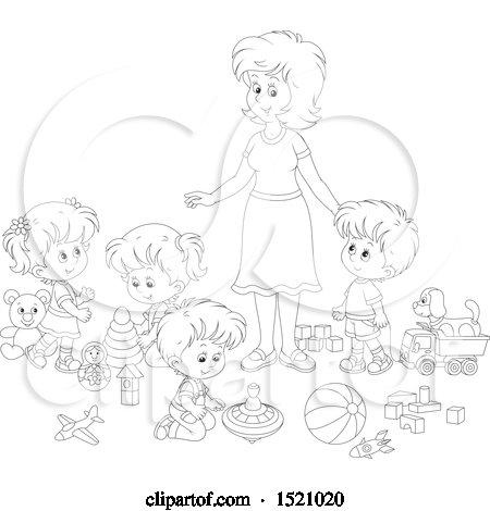 Royalty-Free (RF) Babysitting Clipart, Illustrations ...