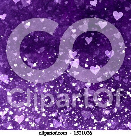 Clipart of a Purple Valentines Day Heart Background - Royalty Free Illustration by KJ Pargeter