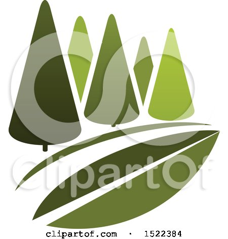Clipart of a Green Park with Trees - Royalty Free Vector Illustration by Vector Tradition SM