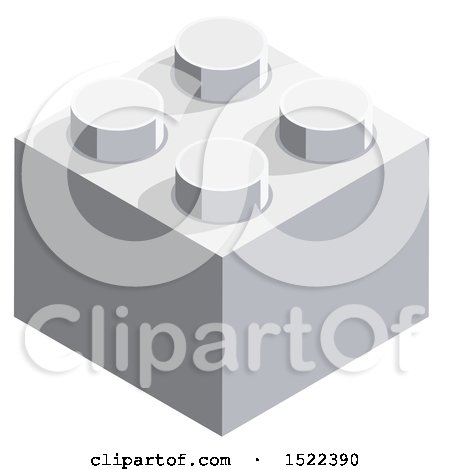 Clipart of a 3d Isometric Block Icon - Royalty Free Vector Illustration by beboy
