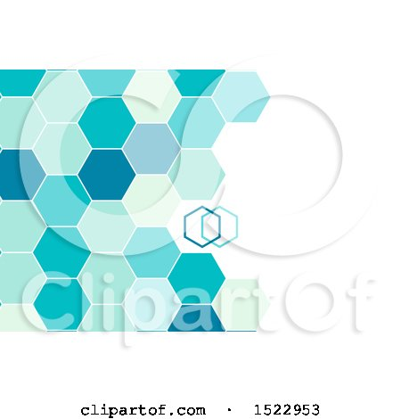 Clipart of a Geometric Hexagon Background with Text Space - Royalty Free Vector Illustration by KJ Pargeter