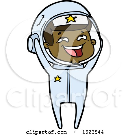 Cartoon Laughing Astronaut by lineartestpilot