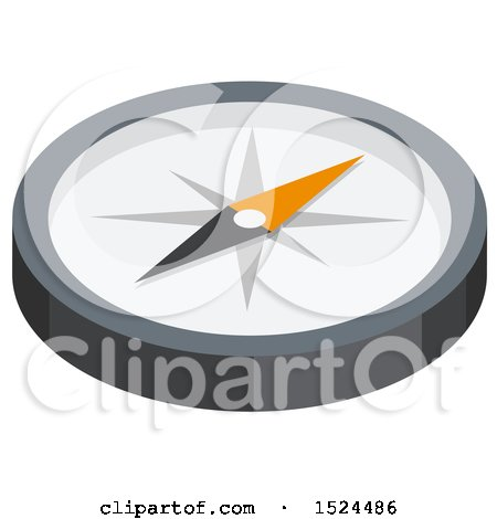 Clipart of a 3d Isometric Icon of a Compass - Royalty Free Vector Illustration by beboy
