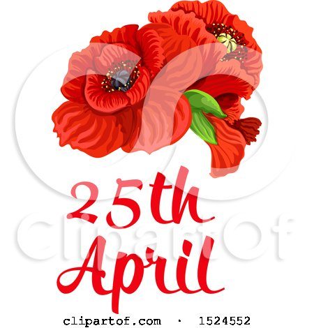 Clipart of a red poppy flower anzac day design royalty free vector red poppy flower anzac day design mightylinksfo Gallery