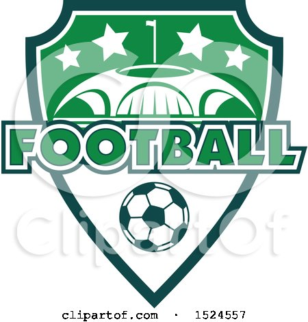Clipart of a Green and White Soccer Design - Royalty Free Vector Illustration by Vector Tradition SM